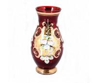 Красная Лепка ваза для цветов 16см