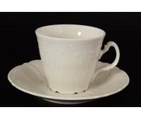 Бернадот Ивори Недекорированный 0000 набор чашек с блюдцами для чая 200мл 6 штук