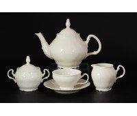Бернадот Ивори Недекорированный 0000 сервиз чайный на 6 персон 15 предметов