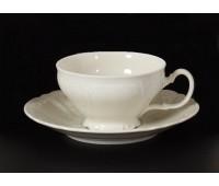 Бернадот Ивори Недекорированный 0000 набор чашек с блюдцами для чая 220мл 6 штук