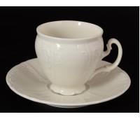 Бернадот Ивори Недекорированный 0000 набор чашек с блюдцами для кофе 170мл 6 штук