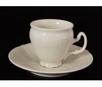 Бернадот Ивори Недекорированный 0000 набор чашек с блюдцами для кофе 90мл 6 штук