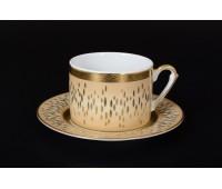 """Falken Porselan """"Риалто Крем Голд"""" набор чайных пар 220мл 6 штук"""