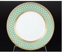 "Falken Porselan ""Валенсия Селадон Голд"" набор тарелок 21см закусочных 6 штук"