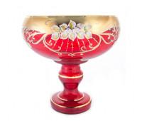 Красная Лепка ваза для фруктов 28см