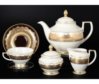 "Falken Porselan ""Агадир Шоколад Голд"" сервиз чайный на 6 персон 15 предметов"