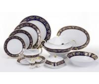 Alexandria Cobalt Gold сервиз столовый на 6 персон 27 предметов