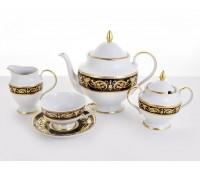 Alexandria Black Gold сервиз чайный на 6 персон 15 предметов