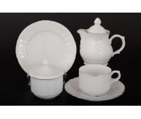 Бернадот 2021 Платина сервиз чайный на 6 персон 22 предмета