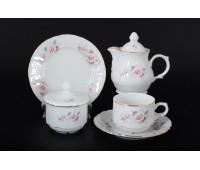 Бернадот Роза Серая  сервиз чайный на 6 персон 22 предмета