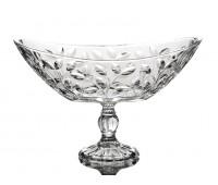 Лаурус ваза для фруктов ладья на ножке длинна 34см, высота 21см. Хрусталь.