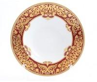 """Falken Porselan """"Наталия Бордо Голд"""" набор тарелок 23,5см для супа 6 штук"""