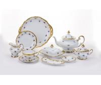 """Веймар """"1016 Мейсенский Цветок"""" сервиз чайный на 12 персон 54 предмета (с низким чайником 1,2л)"""