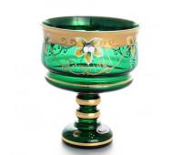 Зеленая Лепка ваза для конфет 16 см