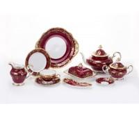 """Веймар """"Ювел Красный"""" сервиз чайный на 12 персон 54 предметов"""