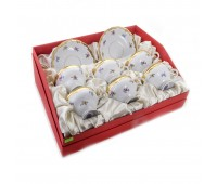 """Веймар """"1016 Мейсенский Цветок"""" набор чашек 210мл с блюдцами 12 предметов в подарочной упаковке"""