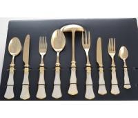 Домус Джиневра Антик набор столовых приборов на 12 персон 75 предметов