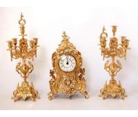 Набор каминный Часы и два Подсвечника.
