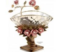 Cevik Group Розовые цветы ваза для фруктов