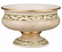Арабеско Зеленая ваза 18см, диаметр 26см