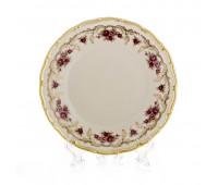 АГ 843 Розовый Цветок Слоновая Кость набор тарелок 17см 6штук