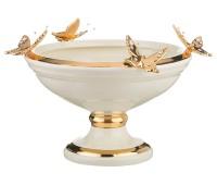 Золотые Бабочки ваза для фруктов высота 22см, диаметр 34см