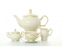 Леандер Антония Слоновая Кость чайный сервиз на 6 персон 17 предметов