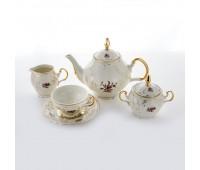 Бернадот Мейсен 60А18 Слоновая Кость сервиз чайный на 6 персон 15 предметов