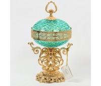 Rosaperla  Бирюза ваза для конфет с крышкой