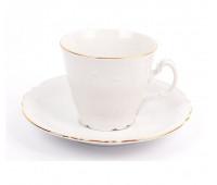 Бернадотт Белый Набор 6 чашек / 6 блюдец 200мл