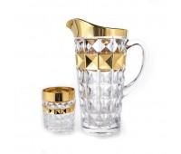 Диамонд Голд 2 набор кувшин и 6 стаканов
