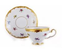 "Веймар ""1016 Мейсенский Цветок"" набор чашек с блюдцами для кофе 160мл на 6 персон 12 предметов"