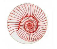 "Falken Porselan ""Corallo Red Gold"" набор тарелок 21 см закусочных 6 штук"