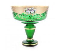 Зеленая лепка ваза для фруктов 24см 6444