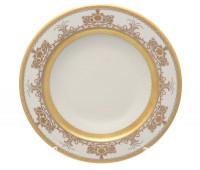 """Falken Porselan """"Крем Сапфир Голд"""" набор тарелок 22см 6 штук для супа"""