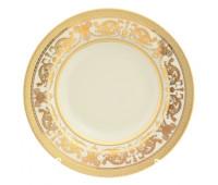 "Falken Porselan ""Констанция Крем Голд"" набор тарелок 22см глубоких из 6ти штук"