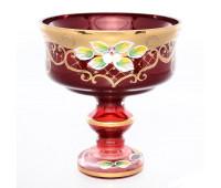 Красная Лепка ваза для конфет 13см