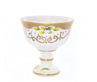 Белая Лепка ваза для варенья 13 см