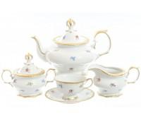 Корона Мейсенский цветочек сервиз чайный на 6 персон 15 педметов