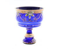 Синяя Лепка ваза для конфет 16см