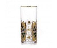 Glasspo Хрусталь с Золотом набор стаканов 350мл 6штук