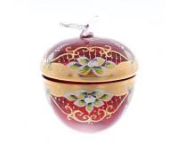 Красная Лепка ваза для конфет яблоко 16 см