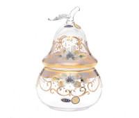 Лепка Золотая ваза для конфет 15см Груша