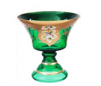 Зеленая лепка ваза для варенья 16см 40029