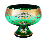 Зеленая Лепка ваза для фруктов 26 см 40031