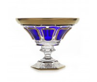 Арнштадт Антик Синяя ваза для конфет 18см на ножке