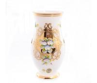 Белая Лепка ваза для цветов 22 см