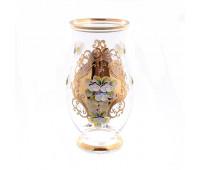 Лепка Золотая ваза для цветов 22см
