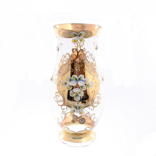 Лепка Золотая ваза для цветов 30см
