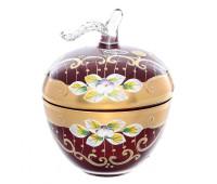 Красная Лепка ваза для конфет яблоко 11 см